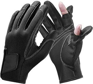 CLISPEED 1 Paar Fingerlose Angelhandschuhe Atmungsaktive Anti-Rutsch-UV-Schutzhandschuhe f/ür Camping-Sportfischen im Freien Blau