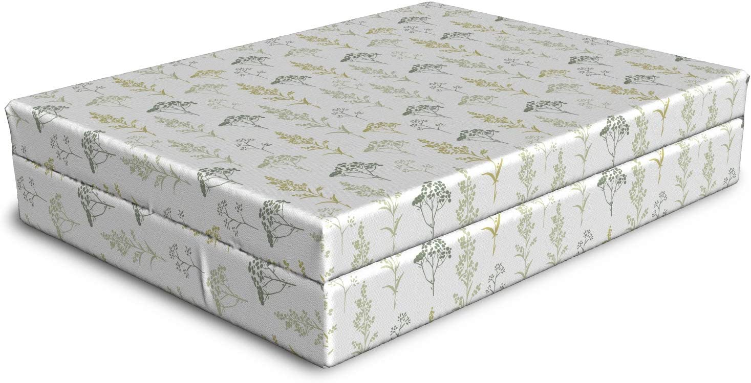 Ambesonne Floral Dog Classic Bed Botanical Art Sacramento Mall Soft with F Tone Graphic