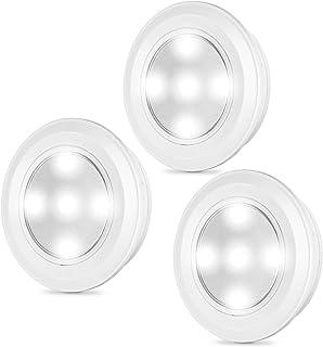 Kohree LEDタッチライト プッシュライト 電池式 防災非常用灯 ナイトライト 夜間照明 常夜灯3個セット (白光)