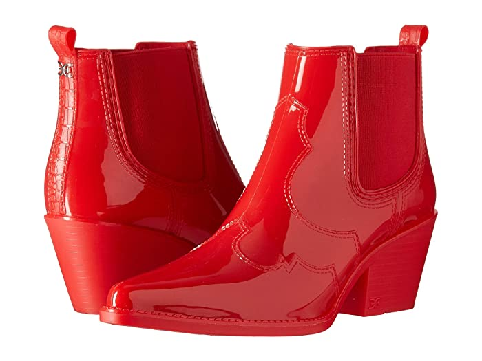 Vintage Boots- Buy Winter Retro Boots Sam Edelman Winona Rain Lipstick Red Shiny PVC Womens Shoes $35.98 AT vintagedancer.com