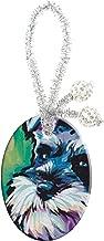MaXing Miniature Schnauzer Pop Art Print Custom Personalise Oval Porcelain Festival Ceramic Crafts Home Decoration Accessories