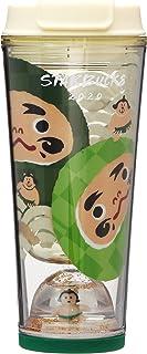 STARBUCKS スターバックス スタバ スノードームタンブラーだるま 355ml JAPAN 達磨 和 和風 正月 日本限定 2020年 スノードーム 緑 グリーン タンブラー マイボトル 水筒 コーヒー