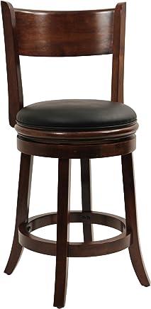 featured product Boraam 47124 Palmetto Counter Height Swivel Stool,  24-Inch,  Walnut
