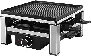 Ohmex OHM-RCL-2294-Raclette 4 Personnes-Grill Raclette 900 Watts-Plaque en Aluminium Moulée sous Pression et Anti-adhési...