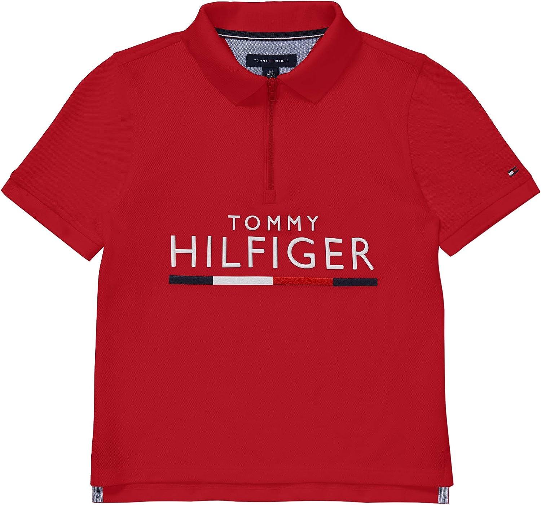Tommy Hilfiger Boys' Adaptive Polo Shirt with Zipper Closure