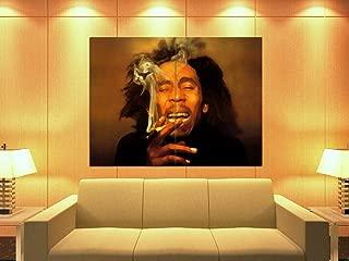 PhotoSight Bob Marley Painting Reggae Singer Music Art 47x35 Huge Giant Print Poster