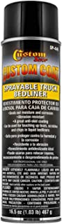 Custom Coat Sprayable Truck Bedliner - Giant 16.5 Ounce Spray Can - Black - A Great Aerosol Truck Bed Liner for Touch-Up or Complete Truck Beds