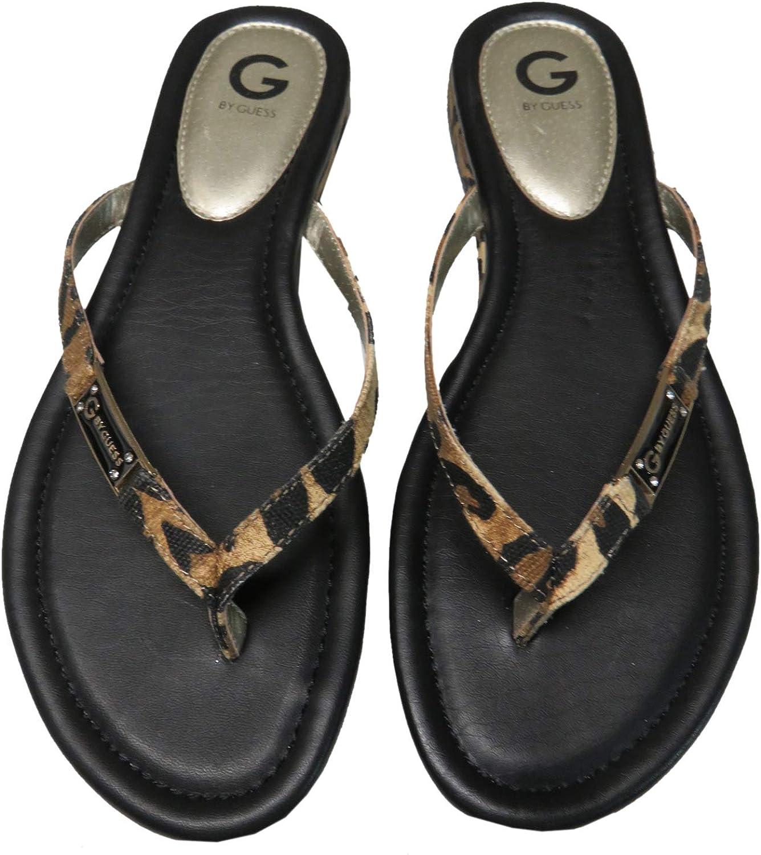 G By Guess Women's Britt2 Flip Flops Silver