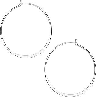 Ellen Tracy Fine Jewelry for Women, Sterling Silver Wire Hoop Earrings