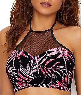 Sunset Palm High Neck Bikini Top