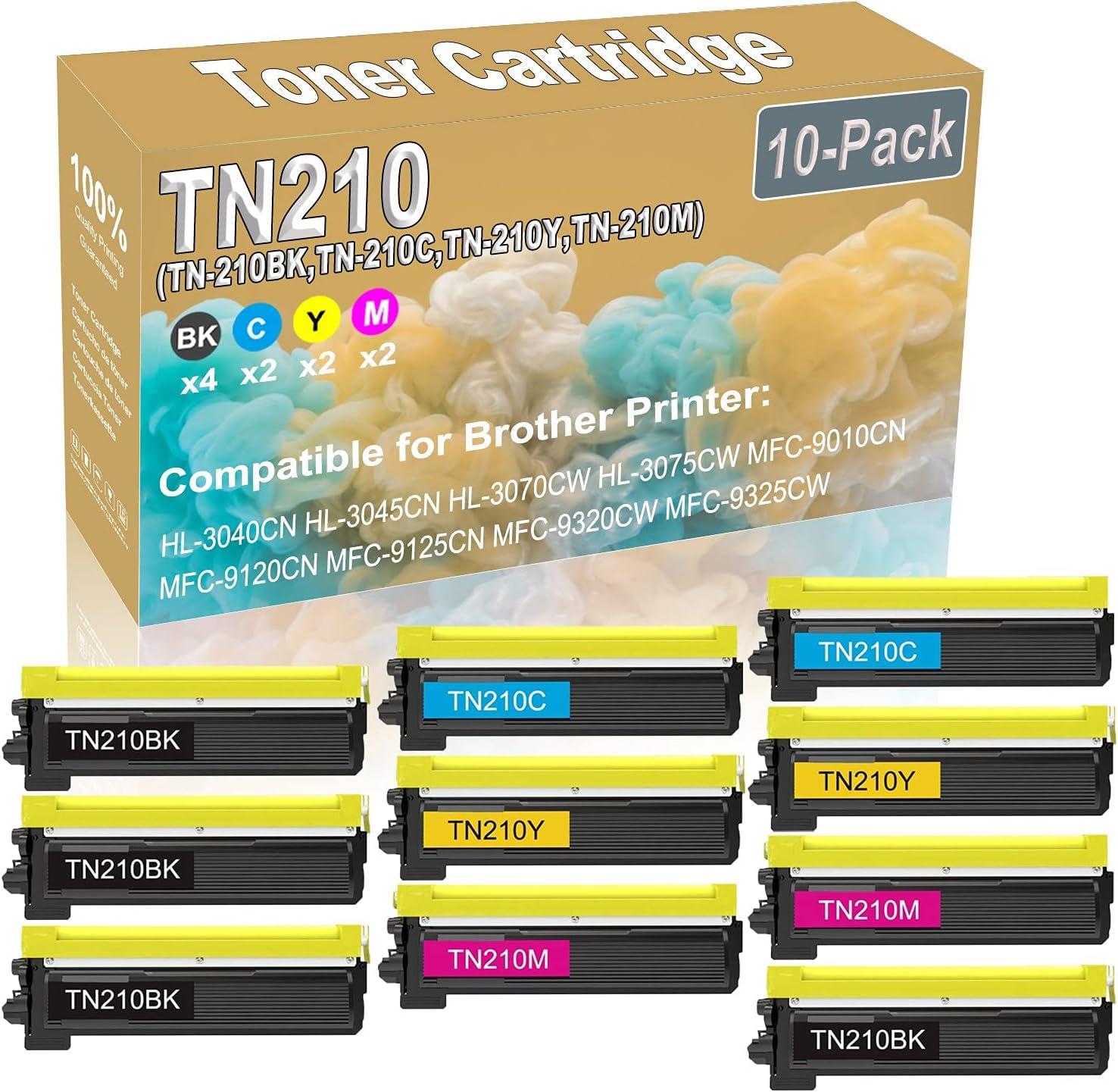10-Pack New popularity 4BK+2C+2Y+2M Compatible HL-3040CN Prin HL-3045CN Max 53% OFF Laser