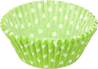 Jubilee Sweet Arts 50 Count Baking Cups, Standard, Lime Green Polka Dot