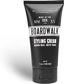 Boardwalk Matte Styling Cream 5oz Best Matte Product for Your Hair, Water-Based/Soluble, Made with Aloe Vera and Vegan, Matte/Natural Shine, Barber Preferred Matte Product for Men, Matte Pomade