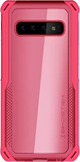 Ghostek Cloak Armor Clear Back Shockproof Case for Samsung Galaxy S10 (2019) – Pink