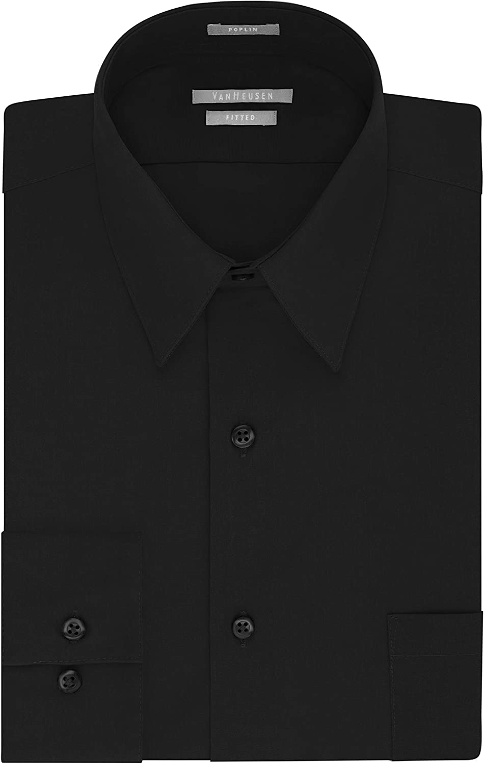 Van Sales of SALE items from new works Heusen Men's Dress Poplin Solid Fitted Reservation Shirt