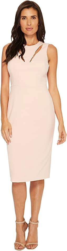 Ivanka Trump - Sleeveless Cut Out Scuba Crepe Sheath Dress