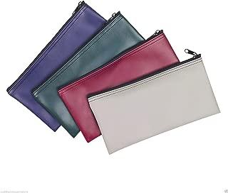 4 Piece Set PM Company Security Bank Deposit Bag/Utility Zipper Coin Bag/Pouch Safe Money Organizer Bag / 11 X 5.5 Inches (Free Return) (4 Envelope - 1 of Each Color)