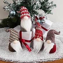GMOEGEFT Swedish Christmas Gnome Plush, Scandinavian Santa Gnome Tomte, Table Ornaments, Holiday Decorations, Set of 4(G)