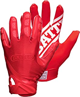 Battle Double Threat Football Gloves – Ultra-Tack Sticky Palm Receivers Gloves – Pro-Style Receiver Gloves, Adult