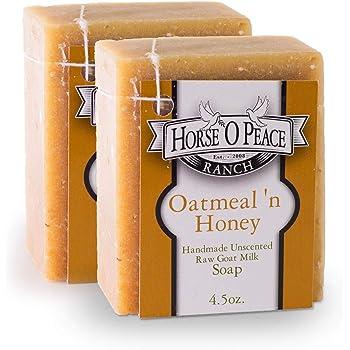 Handmade Goat Milk Soap Oatmeal 'n Honey Soap (2 Pack - 4.5oz./Bar)