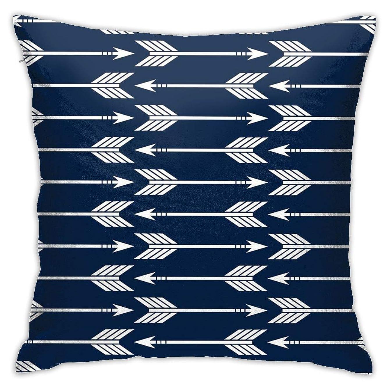 極小永遠にシンポジウムArrows Navy おしゃれ 枕 装飾スロー正方形18x18インチ クッション カバー セッ 豪華 装飾 部屋 枕カバー