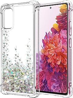 جراب SunStory متوافق مع هاتف Galaxy S20 FE شفاف (غير مناسب لهاتف Samsung S20)، جراب Galaxy S20 FE 5G مع زاوية مضادة للسقوط...