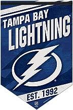 WinCraft NHL Tampa Bay Lightning Premium Felt Banner 17 x 26 Inches