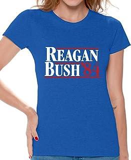 تيشيرت Awkward Styles Reagan Bush '84 للنساء حملة الرئيسة 1984