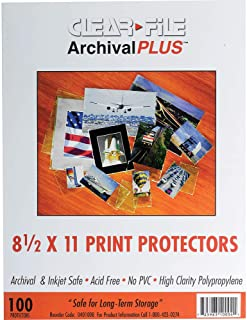 Clear File - Archival Photo Print Protectors - 8.5