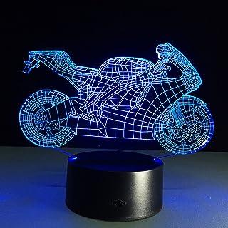 LEDMOMO Lámpara LED 3D de mesa con cambio de color óptico, luz nocturna LED (motocicleta)