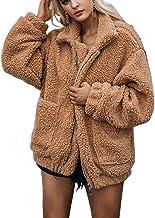 Dazosue Le Donne della Lana Spessa Lana Morbido Incappucciato Teddy Tasche Cappotti Giacca