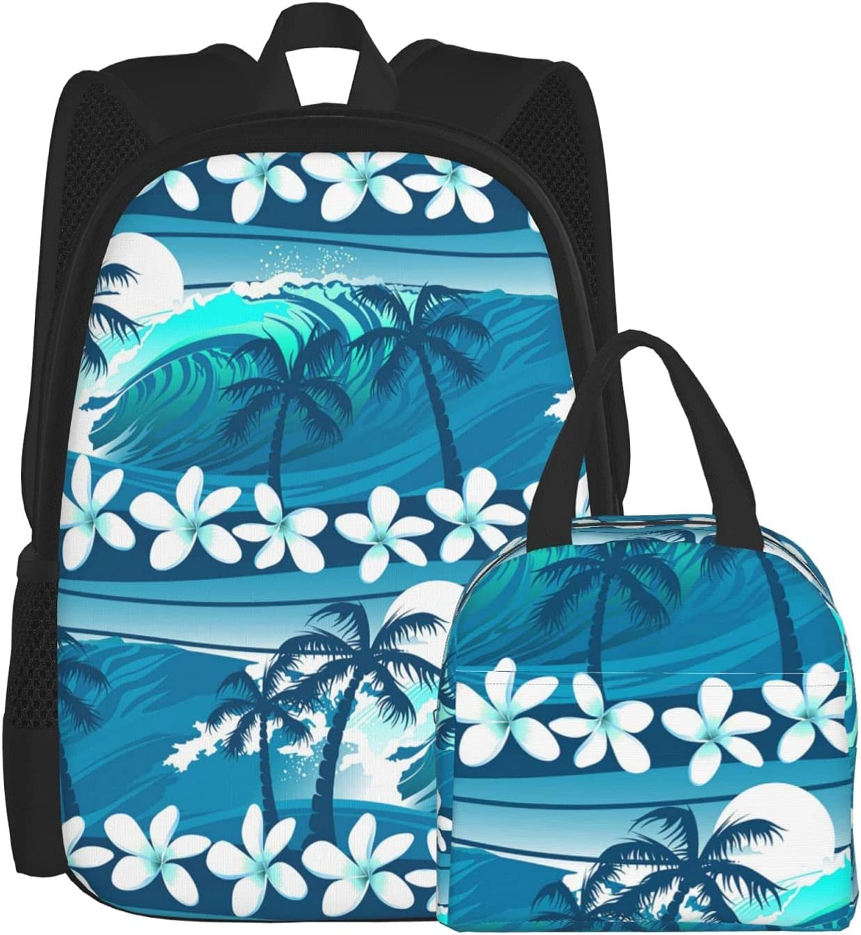 Blue Tropical Surfing With Palm Trees Backpacks Bargain sale Box Now free shipping with f Lunch