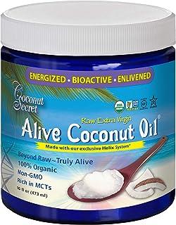 Coconut Secret Organic Alive Coconut Oil, Raw Extra Virgin, 16 fl oz (473 ml)