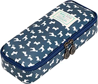 (Puppy) - BTSKY Cute Pencil Case - High Capacity Floral Pencil Pouch Stationery Organiser Multifunction Cosmetic Makeup Bag, Perfect Holder for Pencils and Pens (Puppy)