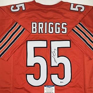 Autographed/Signed Lance Briggs Chicago Orange Football Jersey Beckett BAS COA