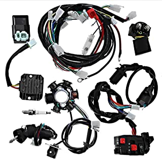 Complete Wiring Harness Electrics Wire Loom Kit CDI Rectifier Ignition Coil Magneto Stator For GY6 125cc 150cc ATV Quad Go Kart Scooter
