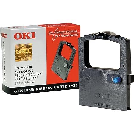 Oki Systems Kassette 09002309 Farbband Schwarz Textil Ml 380 385 390 391 3390 3391 Bürobedarf Schreibwaren
