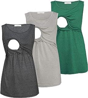 YIWOZA Women's Sleeveless Nursing Tank top Breastfeeding Shirt Maternity Clothes
