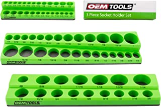 OEMTOOLS 22485 3 Piece Magnetic Socket Organizers, Socket Organizers for Toolboxes, Socket Organizer, Magnetic Socket Hold...