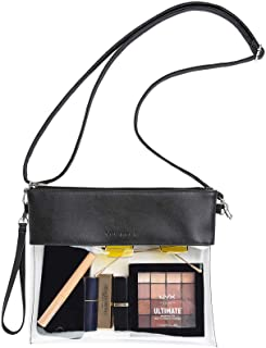 Clear Crossbody Purse Stadium Approved PU Leather Clear...