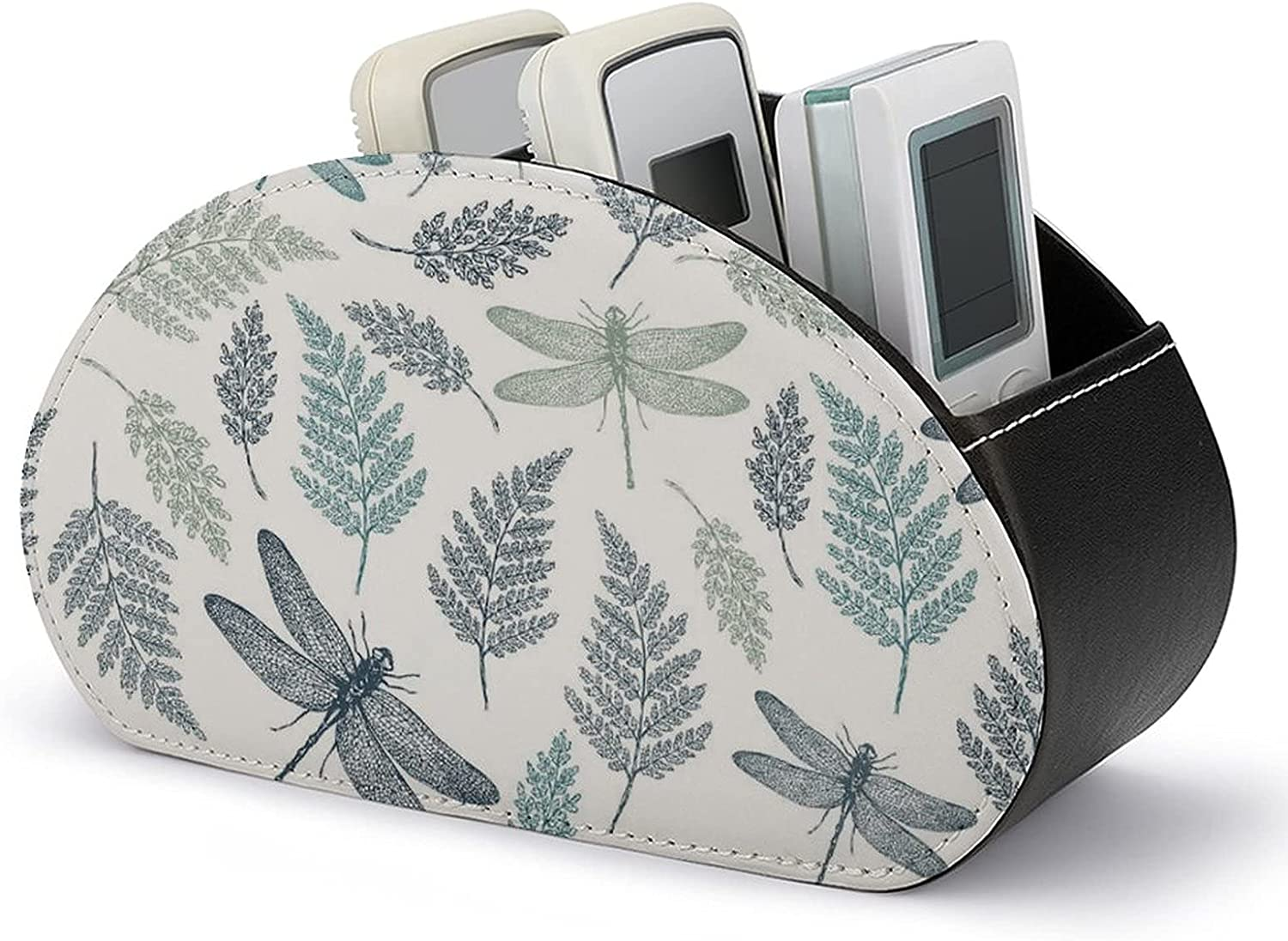 Floral Dragonfly Ranking TOP9 Leaves White Remote Holders Organizer B famous Control
