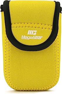 MegaGear MG1839 ultralätt neoprenkamerafodral kompatibelt med Samsung WB35F, WB350F – gul