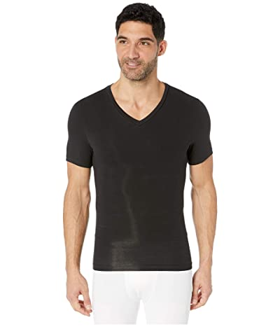 Spanx for Men Cotton Compression V-Neck (Black) Men