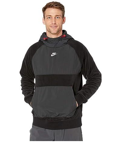 Nike NSW Hoodie Pullover Winter (Black/Off Noir/Gym Red/White) Men