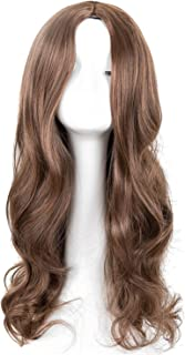 Long Curly Wig Synthetic Heat Resistant Middle Part Line Carnival Hair Costume Cos-play Halloween Party Salon Hairpiece,1B/30HL,26inches