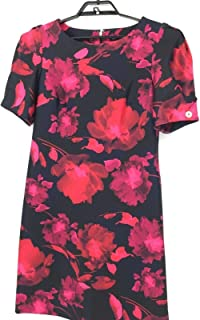 TOMMY HILFIGER Black Pink Dress with Short Sleeve
