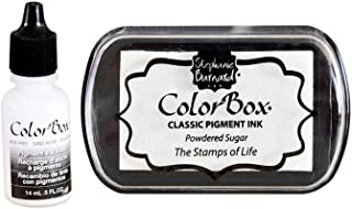 Premium Stamp Ink Pad and Refill Combo Pack by ColorBox and The Stamps of Life - Powdered Sugar White