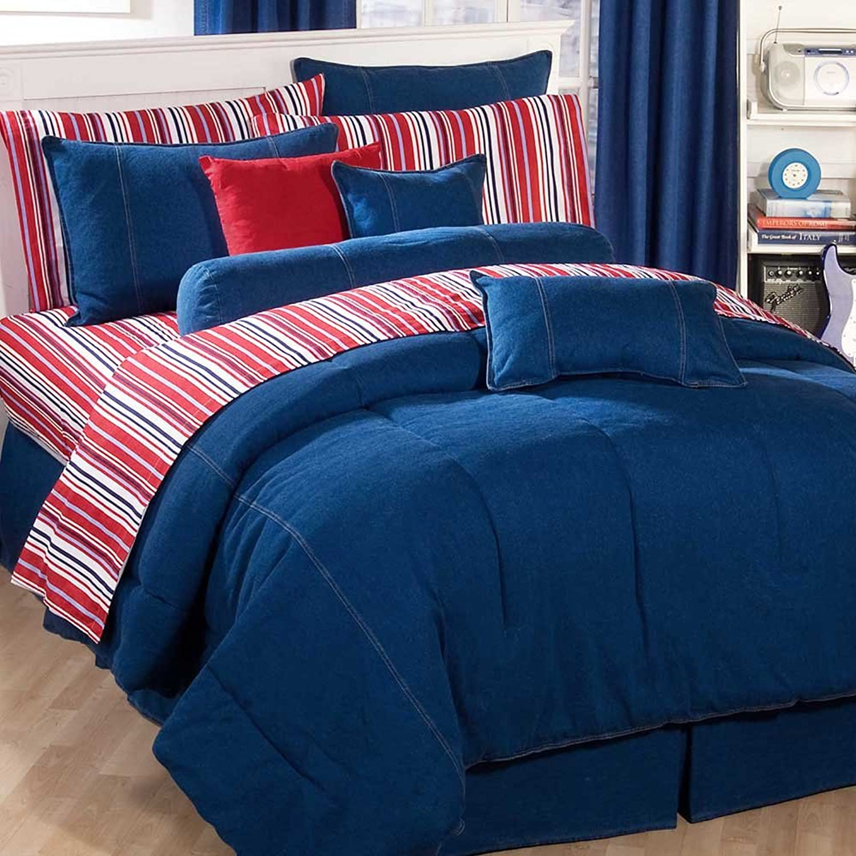 American Denim Comforter Size  California King