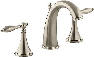 KOHLER K-310-4M-BV Finial Traditional Widespread Lavatory Faucet, Vibrant Brushed Bronze