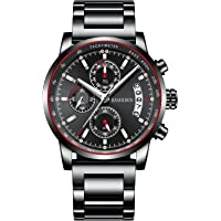Kashidun Men's Chronograph Quartz Fashion Watch (Black)